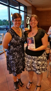 Sarah Wendell and my signed copy of Beyond Heaving Bosoms- The Smart Bitches Guide to Romance Novels